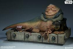 Sideshow Collectibles Star Wars Jabba The Hutt And Throne Deluxe New