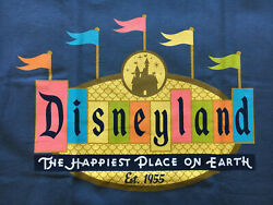 Disneyland 50th Anniversary Happiest Place Earth Retro Marquee Shirt Small Nwt
