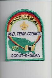 1978 Middle Tennessee Council Scout-o-rama Scoutingand039s Pot Of Gold Patch