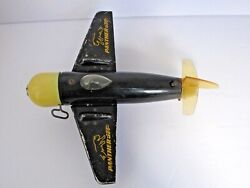 Vintage Wind-up Panther Jet Toy Airplane Plastic And Metal Combination