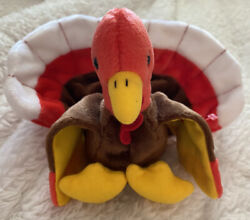 Ty Beanie Babies Gobbles Turkey Rare With Tag Errors. New