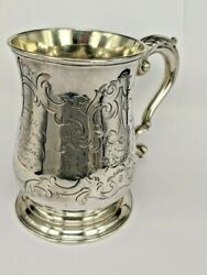 George Ii Solid Silver Pint Tankard 1755 London By Fuller White