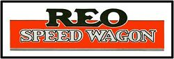 Reo Speed Wagon Trucks Marquee Sign 12 X 36 Usa Steel Xl Size - 4 Pounds