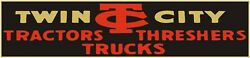 Twin City Tractors And Threshers Sign 12 X 36 Usa Steel Xl Size - 4 Pounds