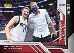 2020-2021 Panini Instant 192 Luka Doncic Channels Dirk Nowitzki Playoffs Nba Ps