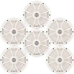 Wet Sounds Marine Bundle Three Pairs Of Sw-808 Series White Grill 8 Speakers