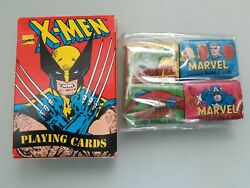Marvel Comic Bubble Gum And X-men Playing Cards