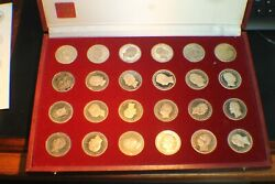 24 Medals 999 Silver Restrike 1984 Famous German Portraits Of Old Coins Hallmark