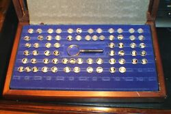 Presidents And First Ladies The Usa Franklin Mint Sterling Silver 65 Mini Coins