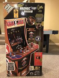 New Mib Arcade1up Nba Jam At-home Arcade Game Console With Light-up Marquee