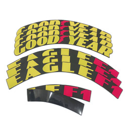 Goodyear Eagle F1 Tire Lettering Permanent Sticker 1.25 Inch For 15-24 4 Kits