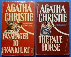 TWO 2 AGATHA CHRISTIE Paperbacks Messenger to Frankfurt amp; The Pale Horse $9.99