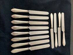 And Co. Faneuil Blunt Knife 9 3/8 Inches Set 12 No-mono - Pro-polish