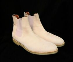 Common Projects Blush Suede And039chelseaand039 Ankle Boots Size 12 45 Crepe Soles