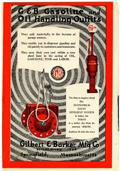 1919 Hercules Spark Plugs And Gilbert Visible Gas Pumps Ads Front And Back Of Pg.