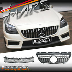 Amg Gt-r Style Bumper Bar Grill Grille For Mercedes-benz Slk-class R172 2012-16
