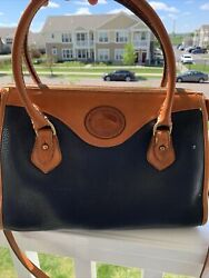 Large vintage navy and tan Dooney and Bourke Crossbody bag $35.00