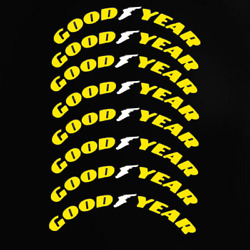 Goodyear Tire Lettering Quality Sticker 1.38 Tyre Lettering Decal 15-24