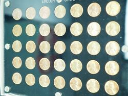 1934-1958 Pds Penny Set In Capital Holders Un-circulated