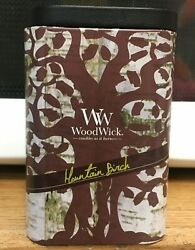 Woodwick Candle Mountain Birch Artisan Tin Collection Crackle 8.5oz Discontinued