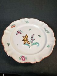 Rare Niderviller Beyerle 18th C. French Faience Hand Painted Floral Plate C