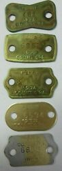 Vtg 1970's Lot Dog Tag License Tax Registration Perry Co., Pennsylvania Tokens