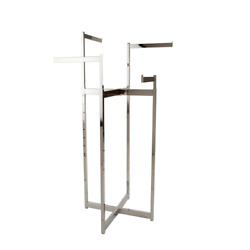Chrome Metal Clothes Rack 32 In. W X 72 In. H