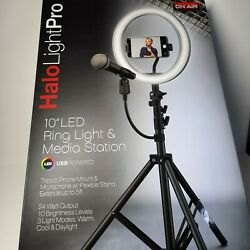 Halo Light Pro 10 Inch Led Ring Light And Media Station New In Box Podcast Series
