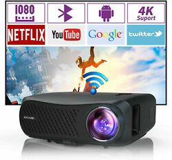 Caiwei 100001 Native 1080p Projector 4k Video Home Cinema Android 8500lumen Led