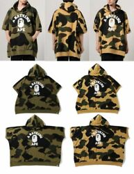 A Bathing Ape Men's Pullover Hoodie 1st Camo College Poncho Fast Shipping Japan