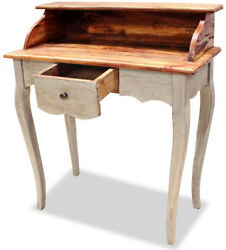 Small Desk Writing Antique Wood Lap Office Secretary Table Drawer Room Furniture