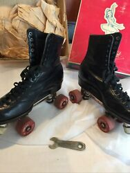 Rare Vintage Betty Lytle Styled By Hyde Roller Skates Dance Shoes Mens 8 W Box
