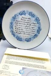 Allach 1944 Rarity Antique Original Porcelain Yule Wall Plate Signed