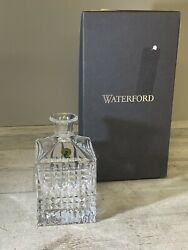Waterford Lismore Diamond Square Decanter 26 Oz New Missing The Top Stopper