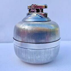 Rare Vintage 1940s Buccellati Sterling Silver Table Lighter Classic Finish-works