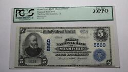 5 1902 Stamford Texas Tx National Currency Bank Note Bill Ch. 5560 Vf30 Pcgs