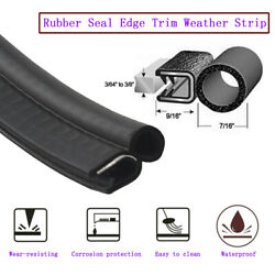 Black Rubber Seal Lock Cars Door Ornament Weather Stripping Metal And Trim 240and039and039