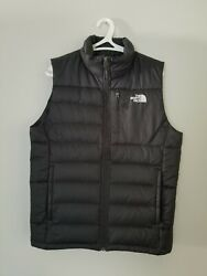 The Mens Gray Nuptse Goose Down Puffer Vest Jacket Size S