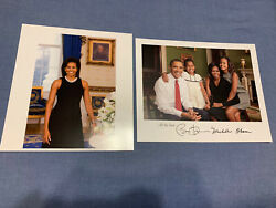 President Barack Obama And Michelle Obama Signed 8x10 Color Photo - Collectible Pp