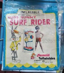 Vintage 1975 Werner Brothers Bugs Bunny Surf Rider 50×27 Inflatable Beach Rare