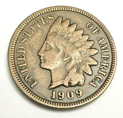 1909 S Indian Head Cent / Penny Au - About Uncirculated 2 3/4 Diamonds