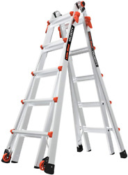 Little Giant Ladders Velocity With Wheels M22 22 Ft Multi-position Ladder A