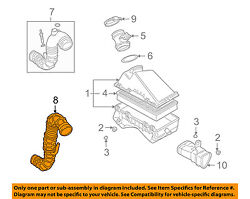 Audi Oem 01-02 Tt Quattro Air Cleaner Intake-inlet Duct Tube Hose 06a133356r