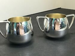 Vintage Nobility Plate Sugar And Creamer Set Silver Plate Bmmts Copper See Pics.