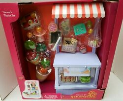 New American Our Generation 18 Girl Doll Farmers Market Fruit Vegetable Stand++