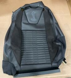 Nos 2013-2014 Ford Mustang Oem Right Recaro Seat Cover Charcoal/blue