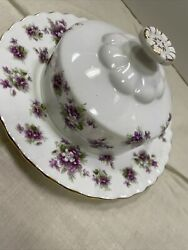 Royal Albert China Old Country Roses Covered Round Butter Dish With Lid