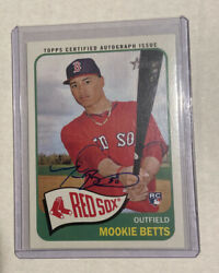 2014 Topps Heritage Mookie Betts Rc Real One Autograph