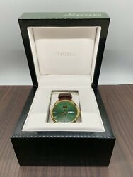 New Augusta National Masters Golf Watch 2016 Brand In Box Green / Gold Face