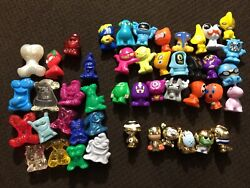 Lot Of 46 Gogos Crazy Bones Classics Modern Gold Clear Alien Sparkle Toothpaste